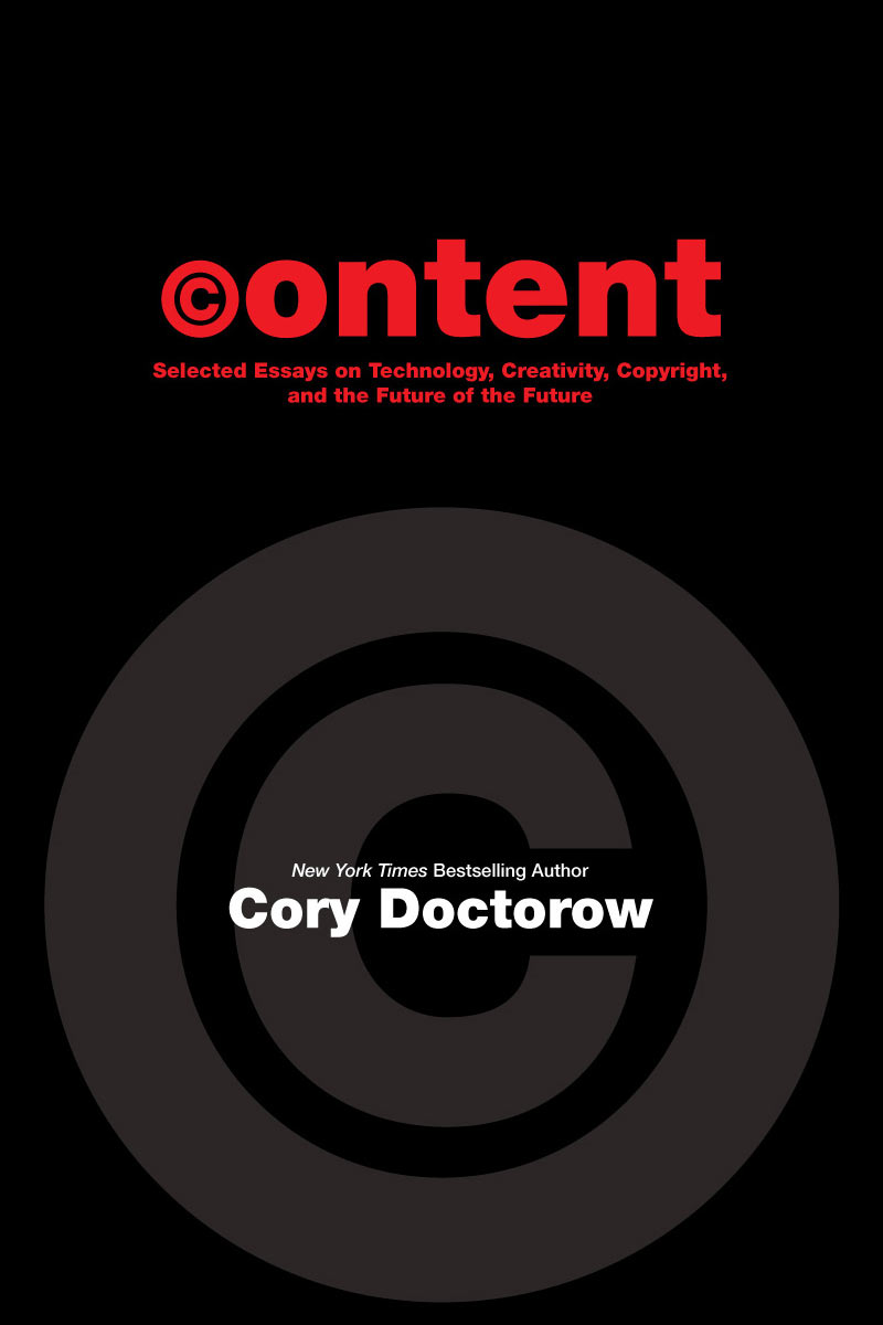 content for cory doctorow s com my books