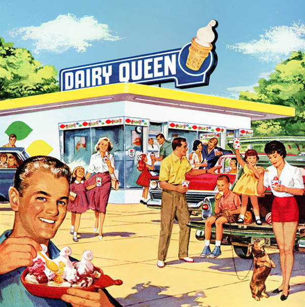 colorful dairy queen ad 1960 boing boing. Black Bedroom Furniture Sets. Home Design Ideas