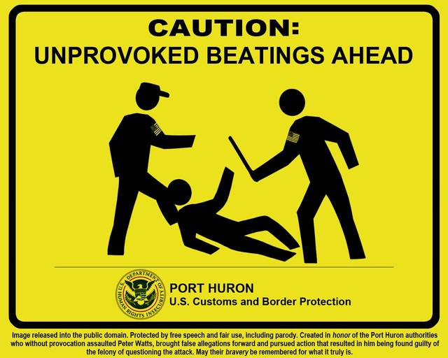 sign for the us border unprovoked beatings ahead boing