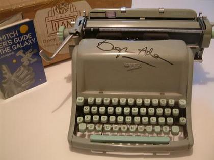 Douglas Adams's typewriter, a Hermes Standard 8, used to write the novel, The Hitch Hiker's Guide to the Galaxy