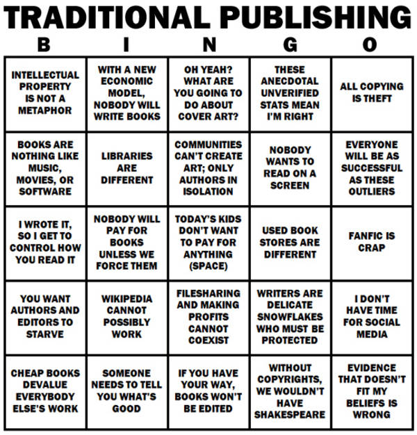 traditional media bingo card
