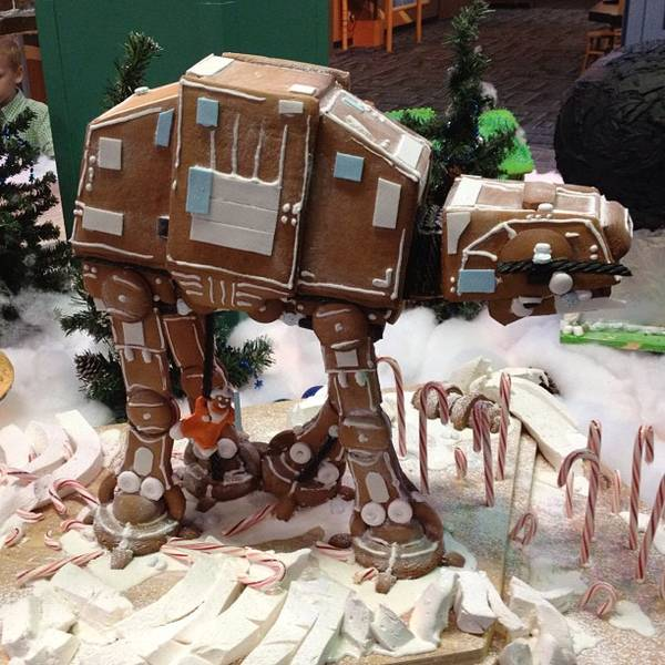 Mediterranean Mansion In Orange County With Awesome: Gingerbread AT-AT / Boing Boing