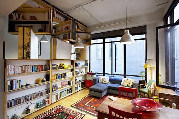 Revolving bookcase/room divider - Boing Boing