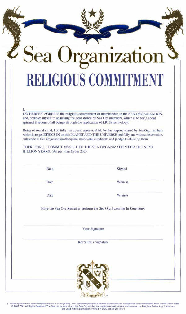 Billion Year Labor Contract For Scientologists Boing Boing