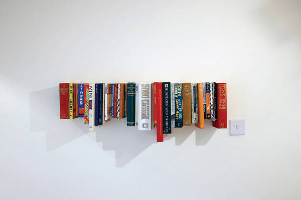 Shelves Made From Books 600 x 399