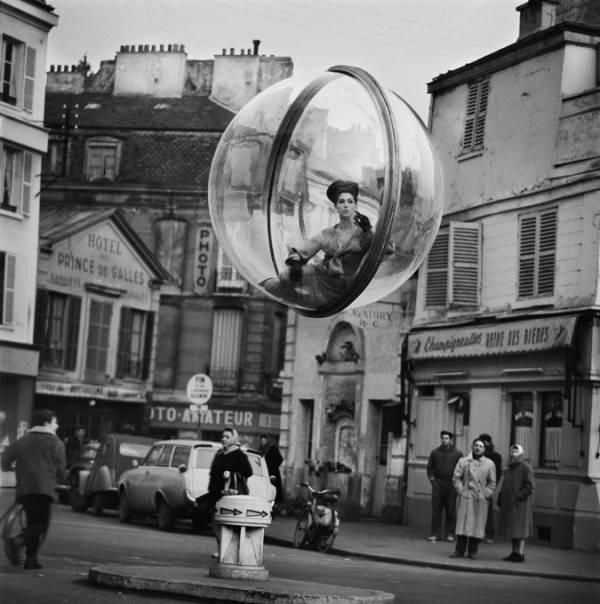 woman inside bubble