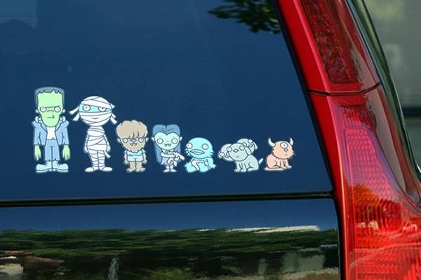 My Monster Family car stickers