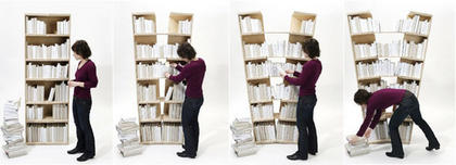 Bookcase That Splits To Reveal Hidden Compartment Boing Boing