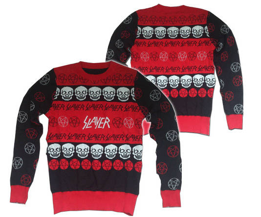 Slayer's heavy metal Christmas sweater / Boing Boing