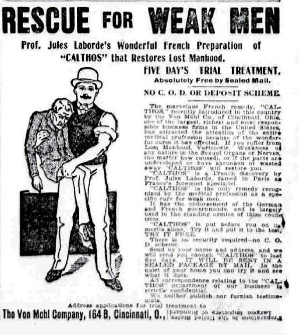 19th Century Erectile Disfunction Ad Boing Boing