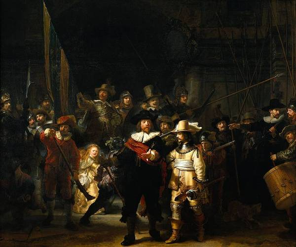 Bank pays for costumed flashmob to recreate Rembrandt's Nightwatch in a mall