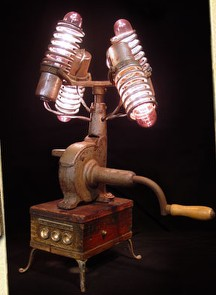 Lamps Built From Found Junk Boing Boing