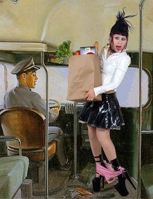Art Frahm Pinups Recreated With Goth Alternative Models