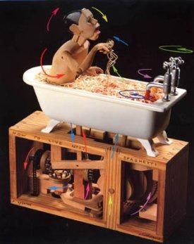 Этот прелестный театр заводных игрушек-автоматов находится в цоколе...