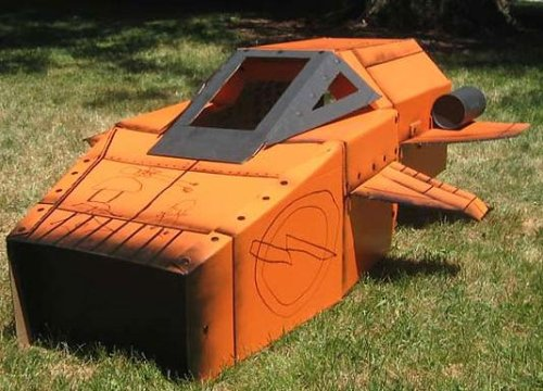 Cardboard Rocket ship Playhouse Boing