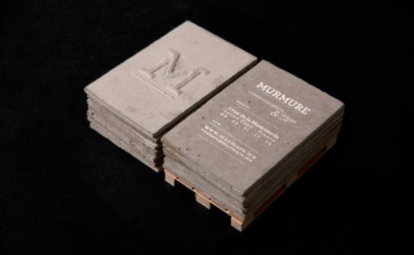 Business cards made from concrete Boing Boing