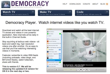 Democracy: a new platform for making and seeing TV on the net