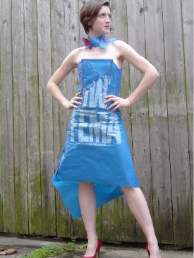 Boing Boing: Evening gown made from a FEMA tarp