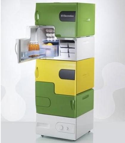 Modular Multi Compartment Fridge For Student Houses