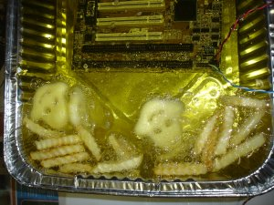 Working Deep Fried Pc Shares A Pan With French Fries