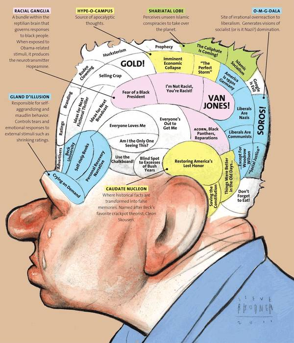 Glenn Beck's brain