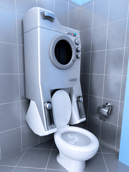 And Of Course How Can You Forget About The Washing Machine Toilet Combo
