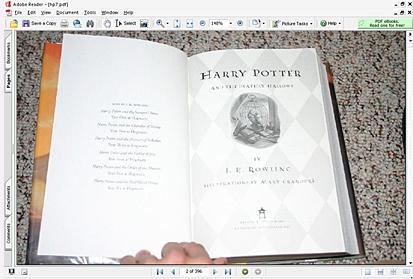 Harry Potter Book Open