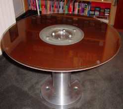 Table Made From Ancient Giant Hard Drive Platter Boing
