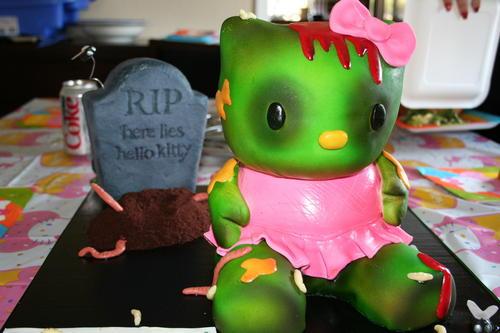 Zombie Hello Kitty Cake Boing Boing