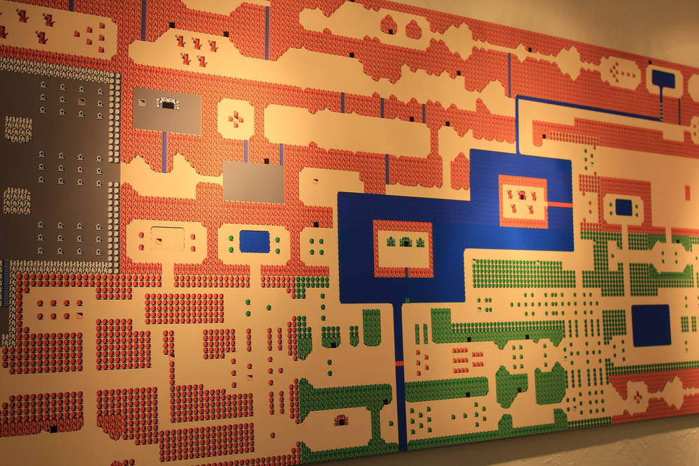 Nintendo Wall Art giant nes zelda map wall-hanging / boing boing