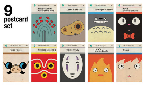 Vintage Penguin Book Cover Postcards : Studio ghibli posters as old penguin covers boing