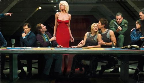 Last Supper with BSG characters