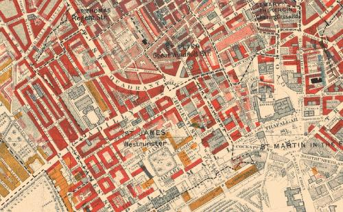 "Charles Booth&squot;s groundbreaking ""Poverty Maps"" of London from 1886 to 1903"