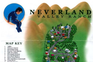 parkmap brochure from michael jacksons neverland boing