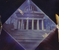 picture of Grant's tomb as origami camera