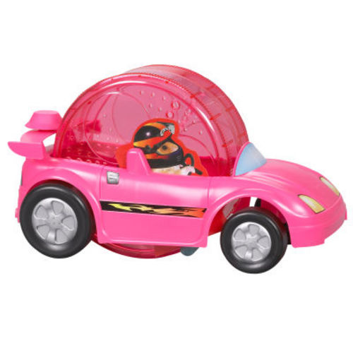 Hamster Wheel Power Toy Car Powered by a Hamster