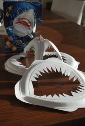 Paper Plate Shark Craft Template
