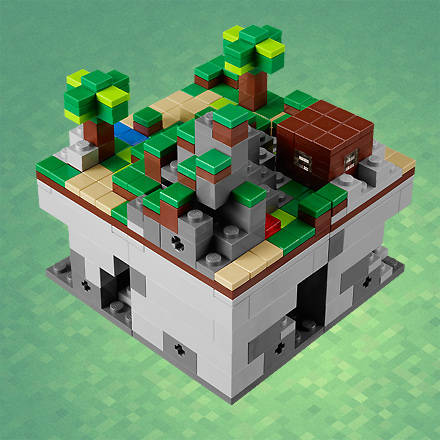 "This summer, Lego will ship an official Minecraft ""Micro World"" set"