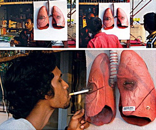 pics of lungs before and after smoking. Blackened lung cigarette