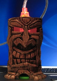 tiki god-shaped USB enclosure