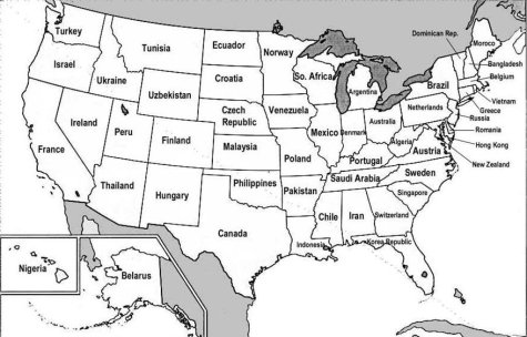 Here's a map of the USA where the states have been labelled with the names