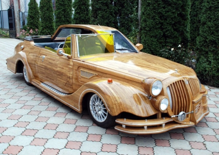 Wooden car with split modern/vintage personality - Boing Boing